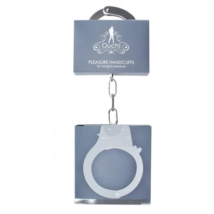 Металлические наручники для любовных игр