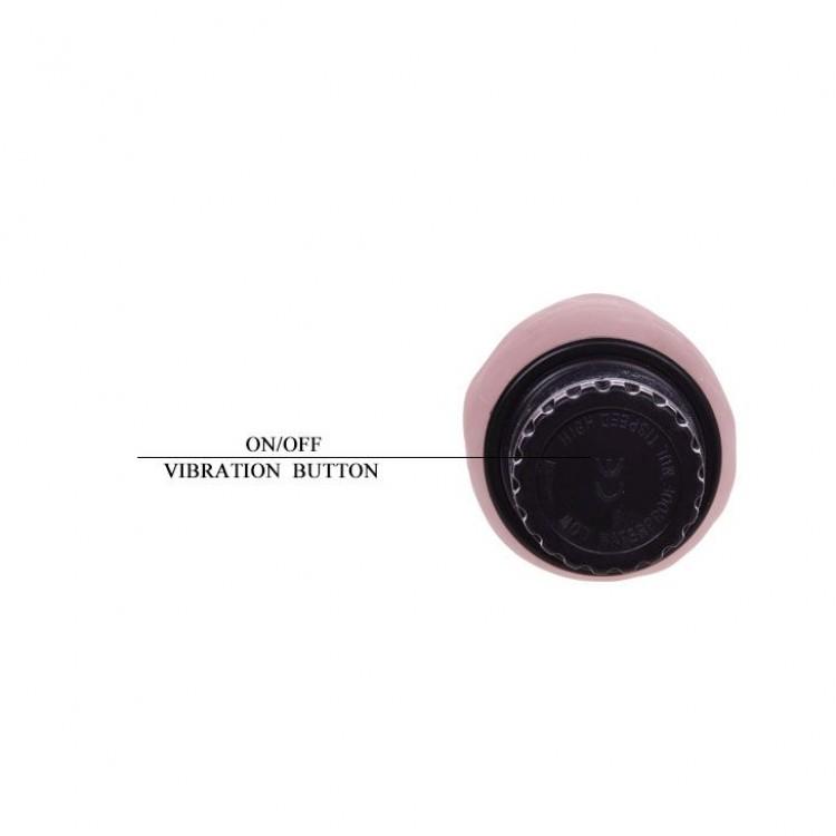 Нежный водонепроницаемый вибратор-реалистик - 19 см.