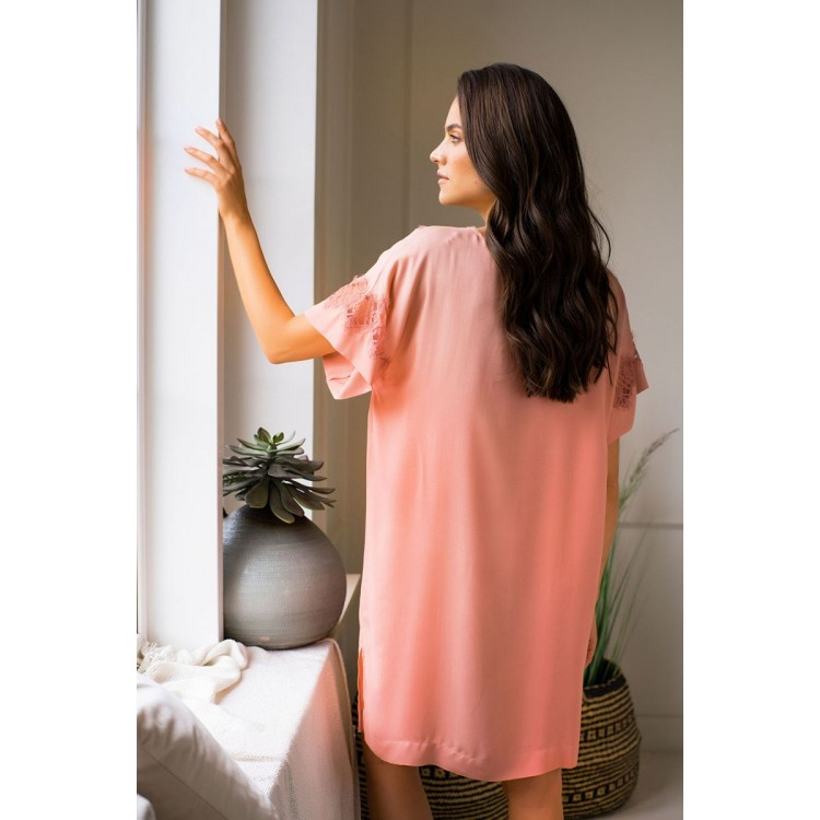 Элегантная домашняя сорочка свободного кроя