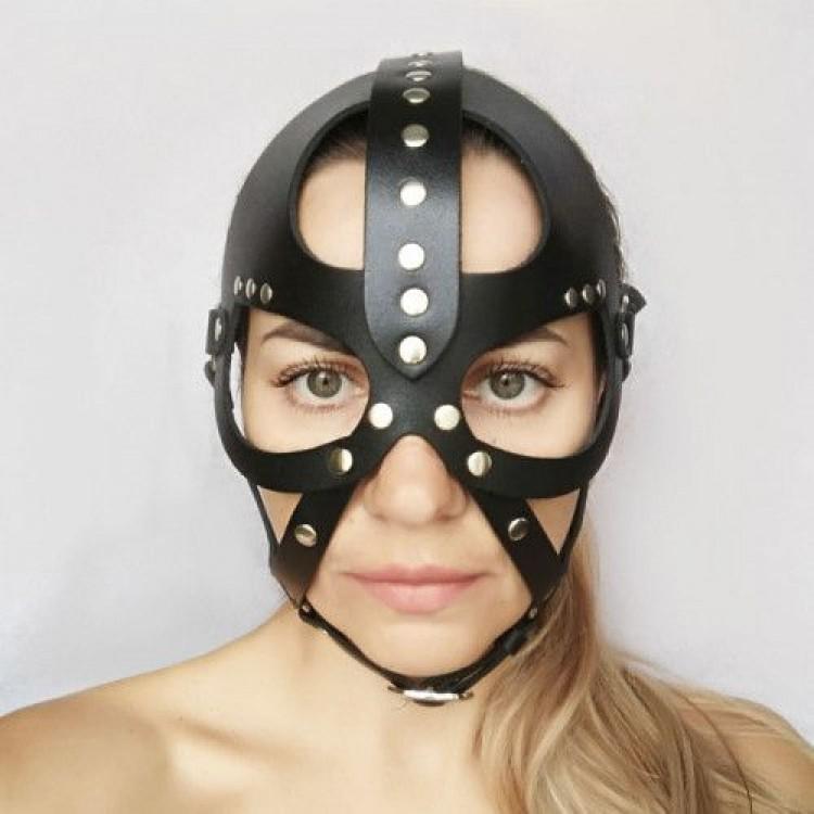 """Кожаная маска-шлем """"Лектор"""""""